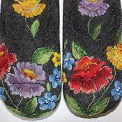 """Обувь ручной работы. Ярмарка Мастеров - ручная работа """"Озорные лапти Аксиньи"""" валяные тапочки. Handmade."""