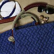 Классическая сумка ручной работы. Ярмарка Мастеров - ручная работа Сумка Джинсовая плетенка. Handmade.