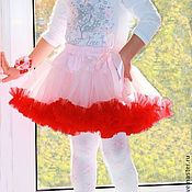 Одежда детская handmade. Livemaster - original item Skirt-American girls nylon chiffon 2-3-4 years. Handmade.