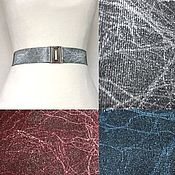 Аксессуары handmade. Livemaster - original item The belt-Gum, Marble Grey, Blue, Burgundy, different height at different prices. Handmade.