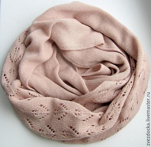 """Шали, палантины ручной работы. Ярмарка Мастеров - ручная работа. Купить шарф - снуд """" Невесомость"""". Handmade. Шарф, меринос"""