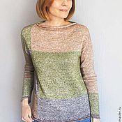 Одежда ручной работы. Ярмарка Мастеров - ручная работа Пуловер в лоскутном стиле. Handmade.