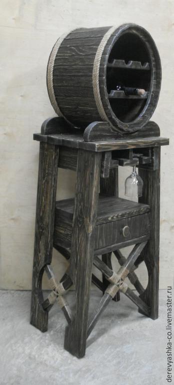 Мебель ручной работы. Ярмарка Мастеров - ручная работа. Купить Мини-бар для вина. Handmade. Коричневый, морилка