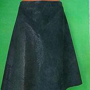 Одежда handmade. Livemaster - original item Skirt genuine leather dark green. Handmade.