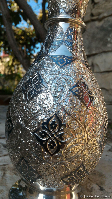 Серебряная ваза,изготовлено вручную