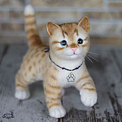 Куклы и игрушки handmade. Livemaster - original item Ginger kitten. felted toy. Handmade.