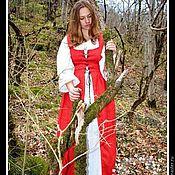 Одежда handmade. Livemaster - original item Red dress in Medieval style for a photo shoot. Handmade.
