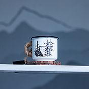 """Кружки ручной работы. Ярмарка Мастеров - ручная работа Кружка """"Лес и горы"""" 250 мл.+ подарок. Handmade."""