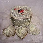 Свадебный салон ручной работы. Ярмарка Мастеров - ручная работа Свадебная шкатулка с пряниками. Handmade.