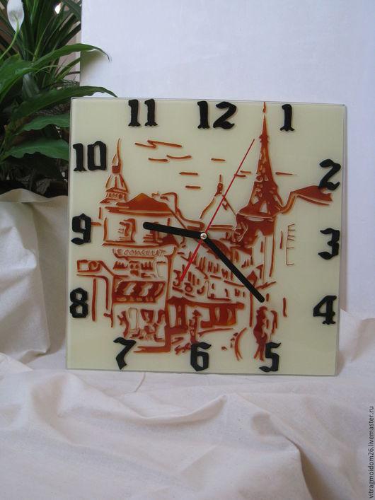 Часы для дома ручной работы. Ярмарка Мастеров - ручная работа. Купить часы настенные Монмартр. Handmade. Бежевый, Париж