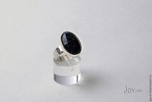 """Кольца ручной работы. Ярмарка Мастеров - ручная работа. Купить """"Отражение звезд"""" перстень из серебра с синим авантюрином. Handmade. Перстень"""
