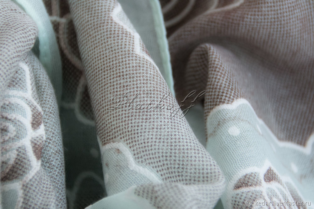 Beige-mint stole from Chanel fabric ' Dreams of roses', Wraps, Moscow,  Фото №1