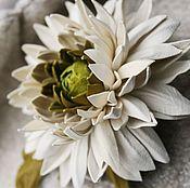 Украшения ручной работы. Ярмарка Мастеров - ручная работа Брошь - зажим для волос -  Хризантема. Handmade.