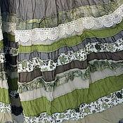 """Одежда ручной работы. Ярмарка Мастеров - ручная работа """"Оливка"""" Многоярусная  оливковая юбочка длинная ,в стиле бохо.. Handmade."""