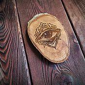 Фен-шуй и эзотерика handmade. Livemaster - original item Guardian: Wooden amulet. Wooden Birch saw with engraving. Handmade.