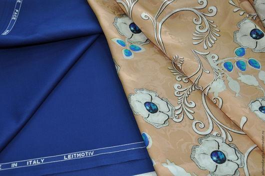 """Шитье ручной работы. Ярмарка Мастеров - ручная работа. Купить Шелк жаккард """"Dolce&Gabbana"""". Handmade. Материалы для творчества, новогодний подарок"""