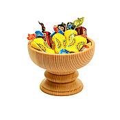 Посуда handmade. Livemaster - original item Wooden candy bowl on a leg. Tableware made of cedar.. Handmade.