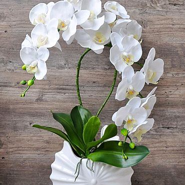 Цветы и флористика ручной работы. Ярмарка Мастеров - ручная работа Орхидея искусственная, имитация живого растения. Handmade.
