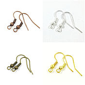 Материалы для творчества handmade. Livemaster - original item Shvenzy earrings spring ball, gold, silver, bronze (art. 172). Handmade.