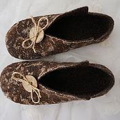 Обувь ручной работы. Ярмарка Мастеров - ручная работа Тапочки валяные Пеструшки. Handmade.