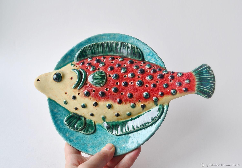 Ceramic plate ' Fish in the bumps', Plates, Pokrov,  Фото №1