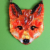 Украшения handmade. Livemaster - original item Fox. Handmade.