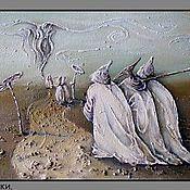 """Картины и панно ручной работы. Ярмарка Мастеров - ручная работа картина маслом """"Странники"""". Handmade."""