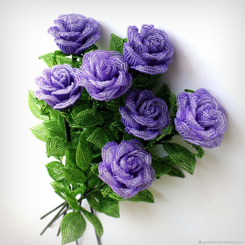 Розы из бисера, Цветы, Москва, Фото №1