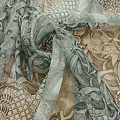 Ткани ручной работы. Ярмарка Мастеров - ручная работа Шелковая органза. Handmade.