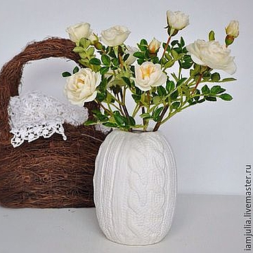 Цветы и флористика ручной работы. Ярмарка Мастеров - ручная работа Цветы из полимерной глины Белый шиповник. Handmade.