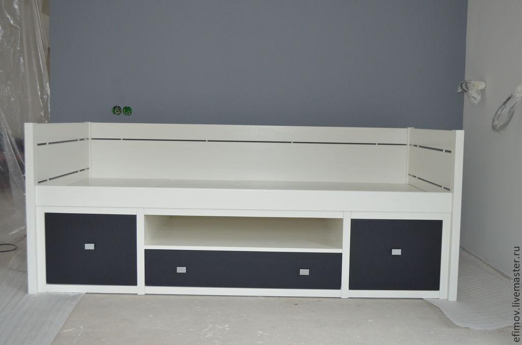 Мебель ручной работы. Ярмарка Мастеров - ручная работа. Купить Кровать Евгения. Handmade. Белый, кровать для детей, сосна
