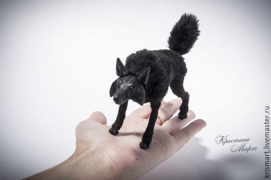 Куклы и игрушки ручной работы. Ярмарка Мастеров - ручная работа. Купить Черный волк. Handmade. Волк, волк игрушка