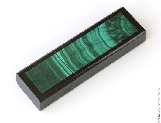 """Компьютерные ручной работы. Ярмарка Мастеров - ручная работа. Купить флешка """"малахит"""". Handmade. Зеленый, малахит натуральный"""