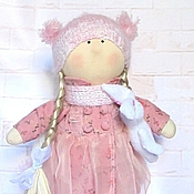Куклы и игрушки ручной работы. Ярмарка Мастеров - ручная работа Кукла Лизонька в розовом платье. Handmade.