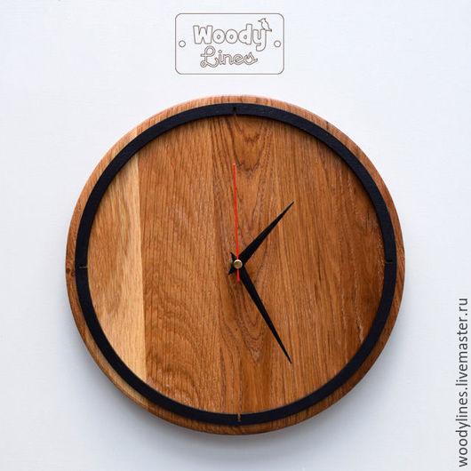 Часы для дома ручной работы. Ярмарка Мастеров - ручная работа. Купить Часы настенные Framed из дуба. Handmade. Бежевый