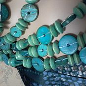 Винтаж handmade. Livemaster - original item Beads COCONUT from a coconut long KOREA green.. Handmade.