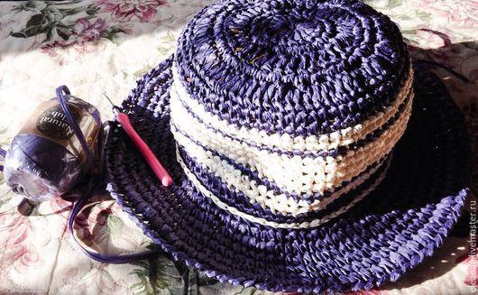 Шляпы ручной работы. Ярмарка Мастеров - ручная работа. Купить Шляпка летняя Черничный шербет. Handmade. Тёмно-фиолетовый