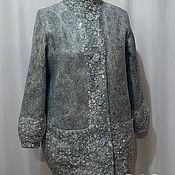 """Одежда ручной работы. Ярмарка Мастеров - ручная работа Пальто войлок """" Оттенки серого"""". Handmade."""