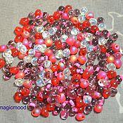 Материалы для творчества handmade. Livemaster - original item 10g Miyuki Drops MIX 05 wild strawberries Japanese seed beads Miyuki. Handmade.