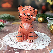 Косметика ручной работы handmade. Livemaster - original item Gift volumetric soap Tiger Cub Maximka. Handmade.