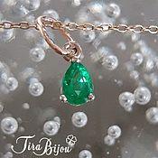 Украшения handmade. Livemaster - original item Suspension: Gold pendant with emerald. Handmade.