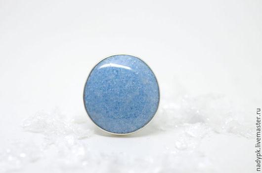 """Кольца ручной работы. Ярмарка Мастеров - ручная работа. Купить Кольцо с виоланом """"Сахар"""", серебро. Handmade. Голубой, кольцо с виоланом"""