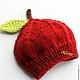 """Для новорожденных, ручной работы. Ярмарка Мастеров - ручная работа. Купить """"Яблочко"""" шапочка для новорожденного. Handmade. Подарок новорожденным"""