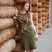 """Одежда ручной работы. Ярмарка Мастеров - ручная работа Валяное платье """"Алёнушка"""". Handmade."""
