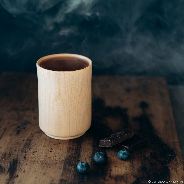 Drink glass made of natural wood Siberian cedar C44, Water Glasses, Novokuznetsk,  Фото №1