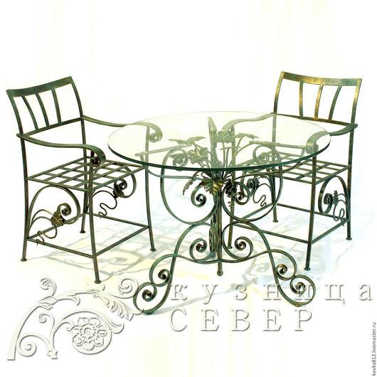 Мебель ручной работы. Ярмарка Мастеров - ручная работа. Купить Набор кованой мебели Санджовезе Пикколо. Handmade. Тёмно-зелёный