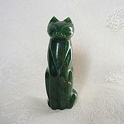Для дома и интерьера ручной работы. Ярмарка Мастеров - ручная работа Кошка из нефрита. Handmade.