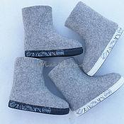 Обувь ручной работы. Ярмарка Мастеров - ручная работа Валенки женские на подошве укороченные. Handmade.