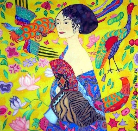 Картина Дама с веером написана по мотивам Г.Климта. Несёт положительные эмоции. Яркая и жизнерадостная. Повесив её дома, сразу станет ясно, кто в доме хозяйка.  Сорокина Наталья для Вас с любовью !!!