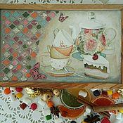 """Для дома и интерьера ручной работы. Ярмарка Мастеров - ручная работа Чайная шкатулка """"Безумное чаепитие"""". Handmade."""